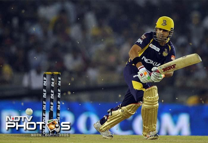 There was no need to take much risk and Gambhir's innings had seven boundaries and a six as his 44-ball 66 took his team to an 8-wicket win, with more than 3 overs to spare. (AFP PHOTO/ PRAKASH SINGH)