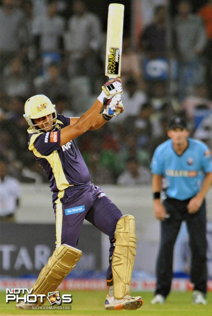 Bisla (45 off 32 balls) ensured that Kolkata were put in a strong position early in the game, even though other batsmen failed to take advantage of the platform. (AFP Photo)