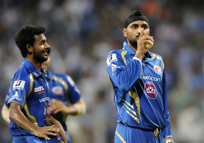 Mumbai Indians beat Kolkata Knight Riders by 65 runs to move up to second spot and effectively end Kolkata's hopes of defending their title. (Image credit BCCI)
