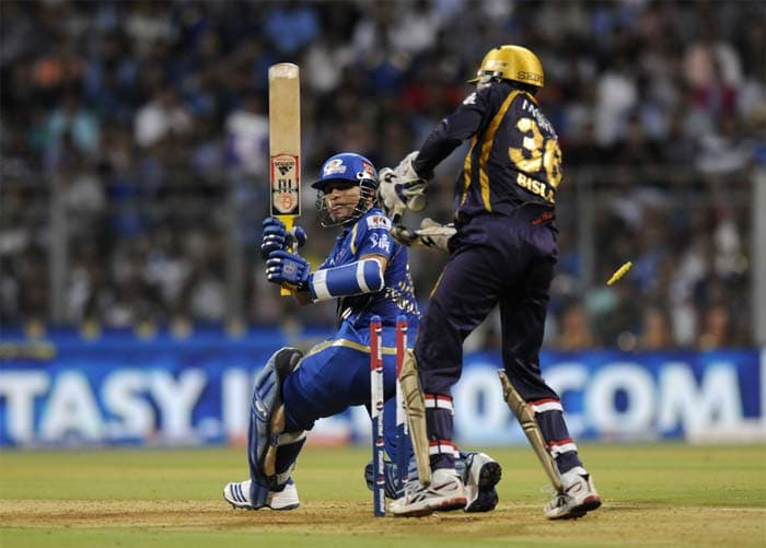 But Sachin's wicket triggered a mini collapse for Mumbai. (Image credit BCCI)