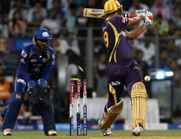 The loss of Yusuf Pathan meant that Kolkata began losing wickets as they lost half their side for 77. (Image credit BCCI)