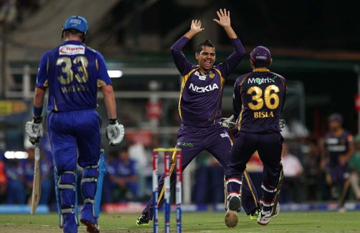 But Sunil Narine removed Watson in his first over for 35 and Rajasthan were 3 down for 71. (Image credit BCCI)