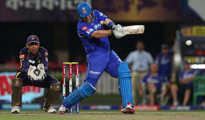 Shane Watson was in good form and looked set to get a big one. (Image credit BCCI)