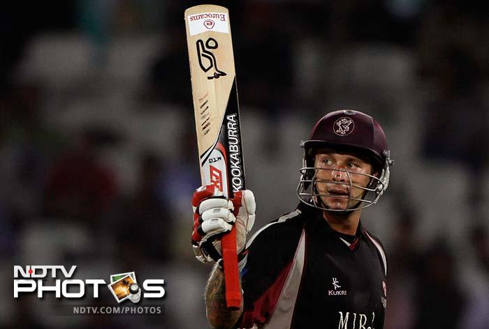 Peter Trego, who top-scored with 70 off 61, was the man behind Somerset's big total. (AP Photo)