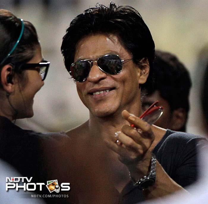 Shahrukh was in the stadium to support his team in the all important match. (AP Photo)