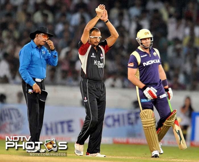 Unlike their last game, Kolkata got no dream start as both Manvinder Bisla and captain Jacques Kallis departed early. (AFP Photo)