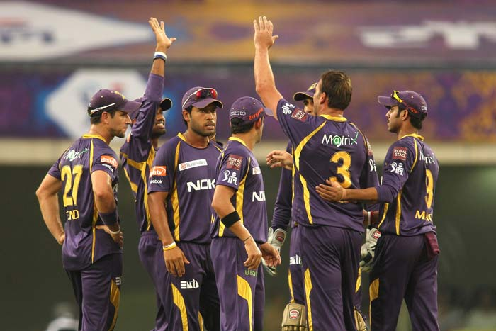 Kolkata Knight Riders' bowlers had a brilliant day at the office to reduce Royal Challengers Bangalore to a paltry 115/9 in the 60th match of the Indian Premier League 2013 and then did make heavy weather of the chase but were 5-wicket winners in the end. (BCCI Image)