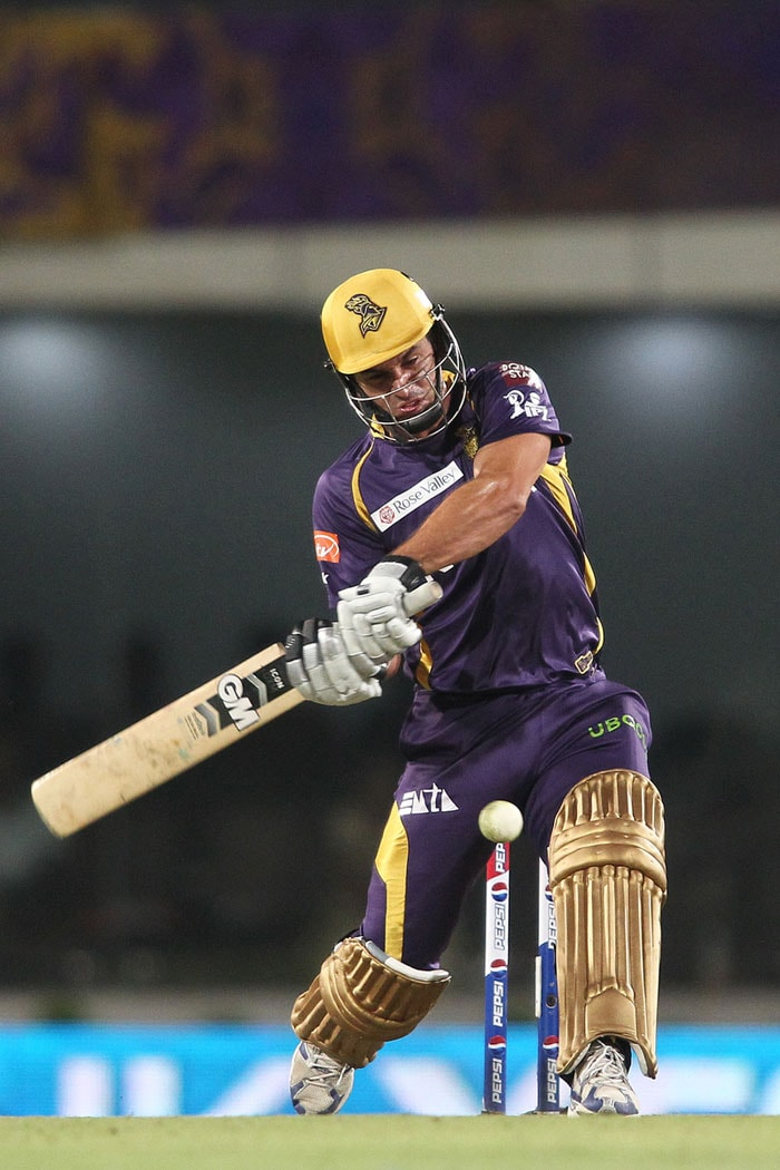 Bangalore did fightback late on removing Kallis and Tiwary in quick succession and taking the match into the last over but Ryan ten Doeschate took them past the finishing line with a couple of boundaries under pressure. (BCCI Image)