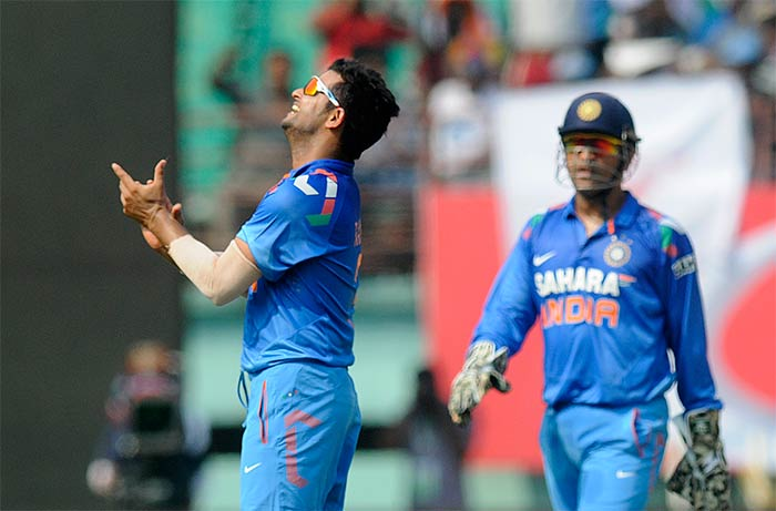 Dhoni also brought in Suresh Raina to bowl before regular spinner R Ashwin. It was a move which paid his side rich dividends as Raina too helped himself to three wickets to help the hosts bowl West Indies out on 211 inside 49 overs.