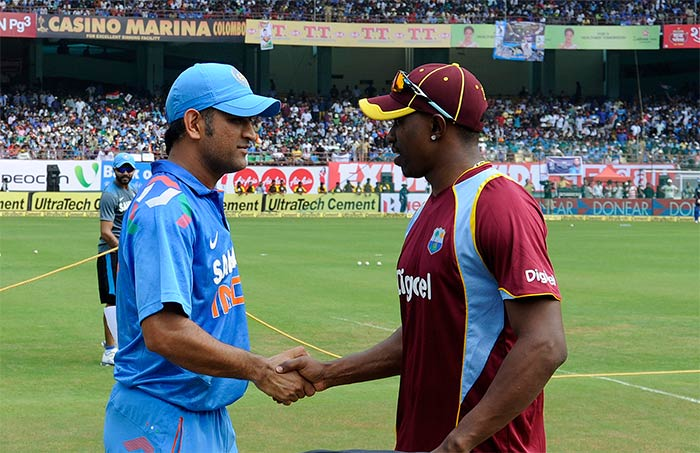 West Indies' skipper Dwayne Bravo won the toss and opted to bat under humid conditions.