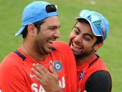 Big B, Yuvraj wish Virat Kohli on Twitter