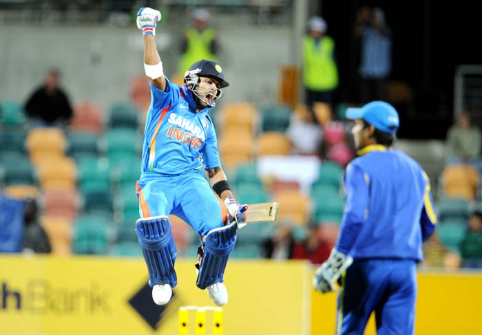 India pulled off a stunning batting display to ensure their chances of qualifying to the final of the CB series were still alive as they beat Sri Lanka by 7 wickets on Tuesday. And the main man to thank for this was Virat Kohli who smashed 133 off only 86 balls as India completed the herculean task of achieving the target of 321 in less than 40 overs to earn a bonus point.