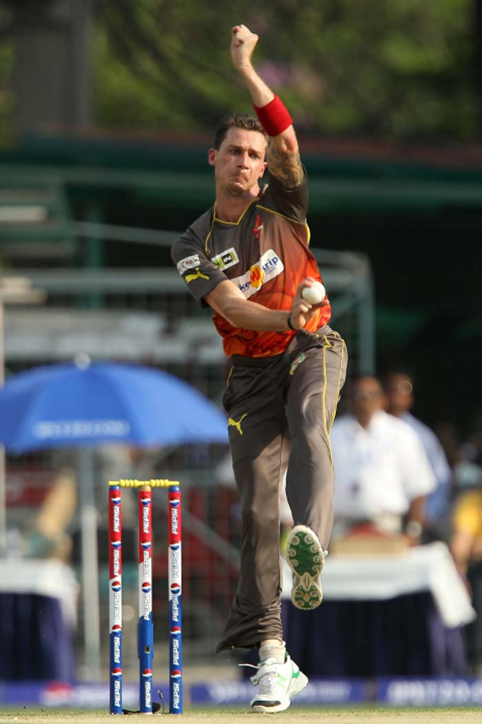 Hyderabad's Dale Steyn was one of the most economical in the side but even the veteran pacer went at 7.25 runs per over from his 4. (BCCI image)