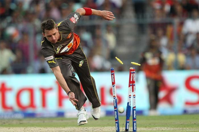 Morgan was eventually run-out by Steyn (in pic) but his innings helped Kolkata post 180. (BCCI image)