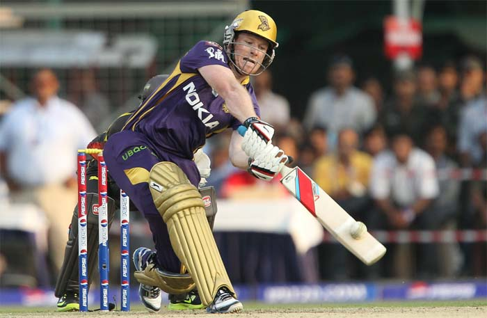 Eoin Morgan took over from where Gambhir had left and powered the scoring with urgency. (BCCI image)