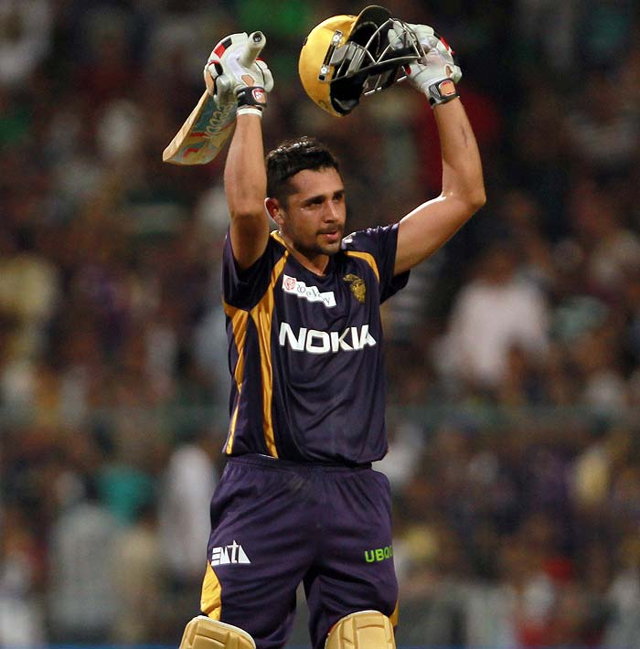 Manvinder Bisla once again showed why he is such a dangerous batsman right at the top of the order and he repeated his performance in the final of the 2012 edition, that gave Kolkata Knight Riders the coveted IPL title for the first time. On Friday, Bisla hit three fours and three huge sixes and mixed caution with aggression in his responsible yet enterprising unbeaten 44-ball 51.