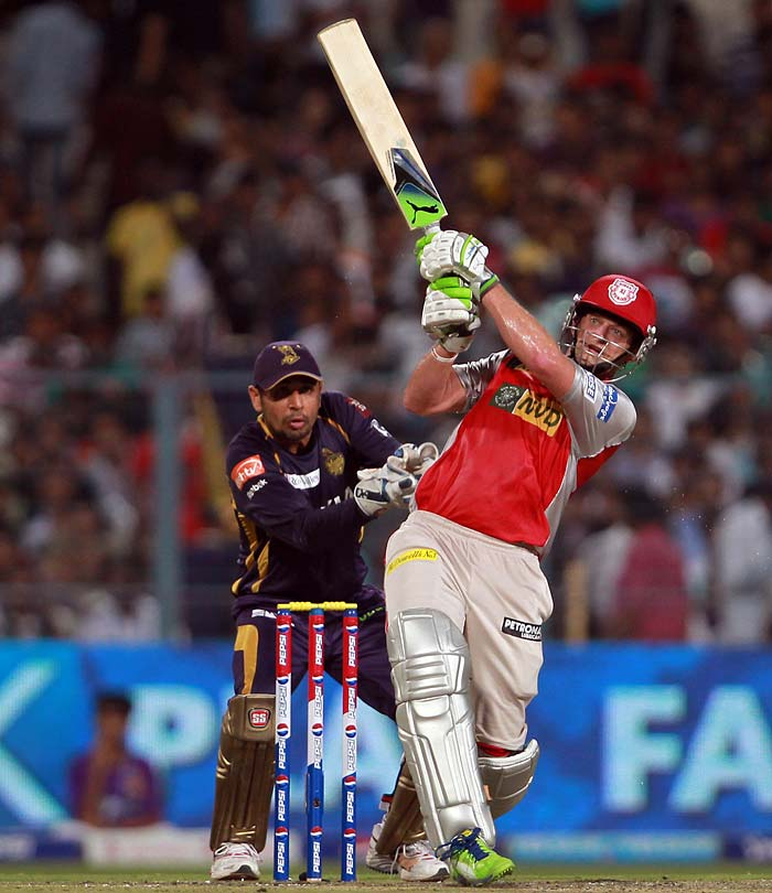 Kings XI Punjab skipper Adam Gilchrist did find some form with the bat, scoring a run-a-ball 27. Gilchrist, though, was dismissed by Rajat Bhatia in the 10th over.
