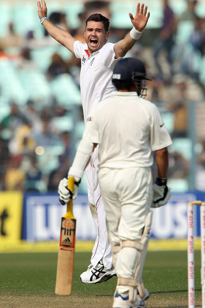 Then it was Sachin who was done in early after tea-break. Again a brilliant display of the unconventional swing by Anderson, one that just held its line. India was in trouble. (Photo credit: BCCI)