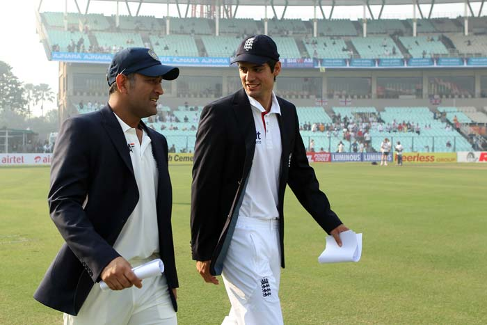 Despite an uncharacteristic fifty by Sachin Tendulkar, England stamped their authority over the third Test match on Day 1 in Kolkata. India won the toss and chose to bat but were disappointing to say the least as visitors continued their rich vein of dominance since the Ahmedabad loss. (Photo credit: BCCI)