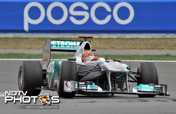 Seven time champion Michael Schumacher was eliminated in the second round of qualifying as the Force India cars of Di Resta and Sutil pushed their way into the top 10 shootout. The German will start the race from 12th.