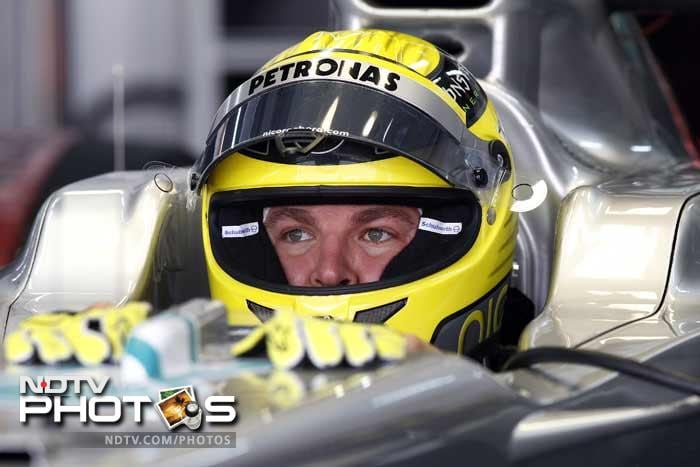 Germany's Nico Rosberg was seventh for Mercedes, ahead of Russian Vitaly Petrov of Renault.