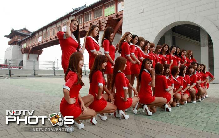 It's not only about the cars and the racers here at Yeongam. These ladies in red showed why just before the practice session got underway.