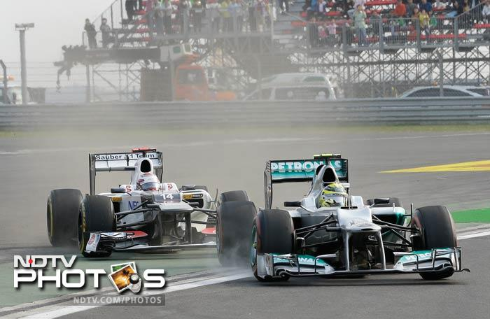 Kamui Kobayashi, Suaber's podium finisher in the Japan GP, caused the early mishap as he took Mclaren's Jenson Buttona and Mercedes' Nico Roseberg out of the race, along with himself.