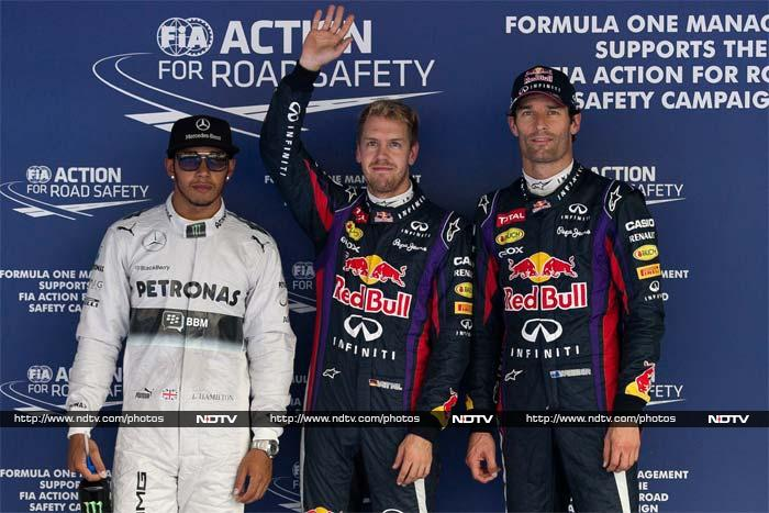 Sebastian Vettel grabbed the pole position for the Korean Grand Prix. Lewis Hamilton will start second. Mark Webber finished third but after getting a 10-place grid penalty he will start 13th. (All AP and AFP pictures)