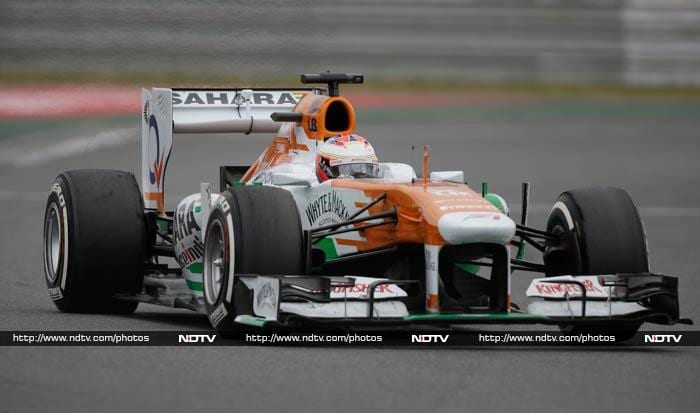 It was a poor day for Force India with Adrian Sutil finishing last while Paul di Resta crashed out of the race.
