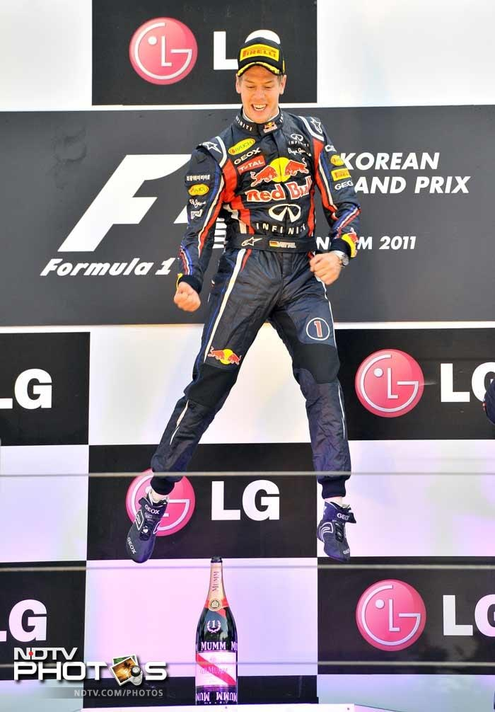 Vettel delivered a final flourish with the fastest lap of the race on his last lap as the top five were separated by just 15 seconds.