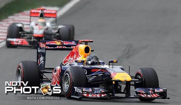 Vettel started second on the grid, but took the lead from Hamilton on the opening lap to pull clear and produce a flawless drive to the chequered flag.