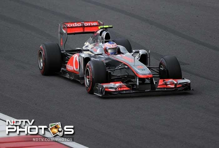 McLaren driver Jenson Button came in fourth, ahead of the two Ferraris of Fernando Alonso and Felipe Massa.