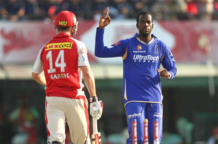 Kevon Cooper got rid of Gilchrist just as the Aussie threatened to get a big score. (BCCI Image)
