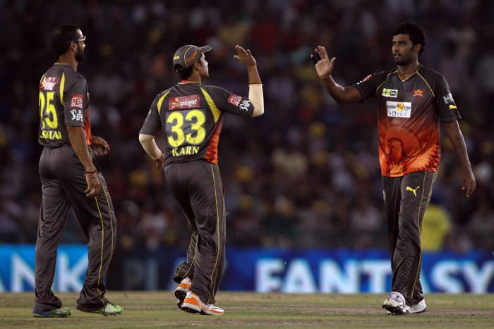 Sunrisers Hyderabad boosted their chances of a top four finish with a convincing win by 30 runs over Kings XI Punjab in Mohali. (BCCI Image)