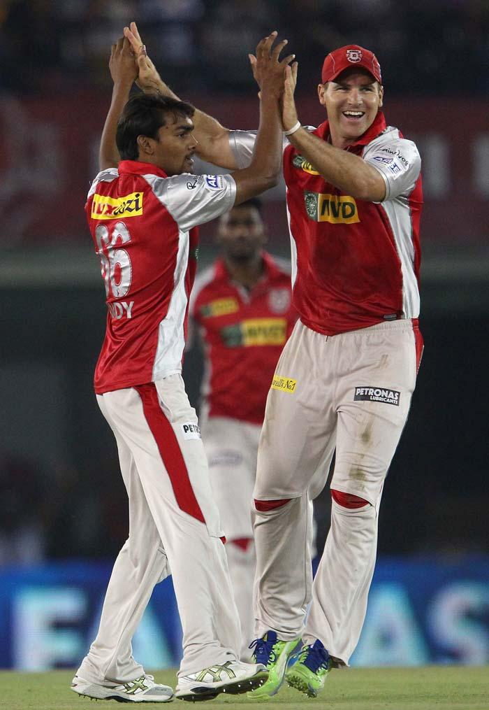 Sandeep Sharma got the wickets of Hanuma Vihari and Cameron White to strike a double blow for Punjab. (BCCI Image)
