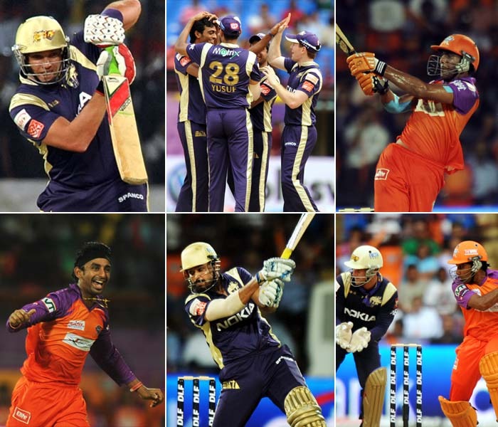 It was billed to be a match for a revenge for the Knight Riders. It eventually turned out to be a whimper as despite a fight, Gautam Gambhir's side bowed down eventually to the Kochi Tuskers. A look. (AFP Photos)