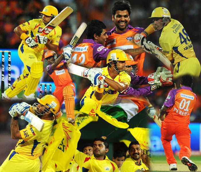 The Kochi Tuskers continued their new found form as they beat the Chennai Super Kings by 7 wickets in their match on Monday. (AFP Photos)