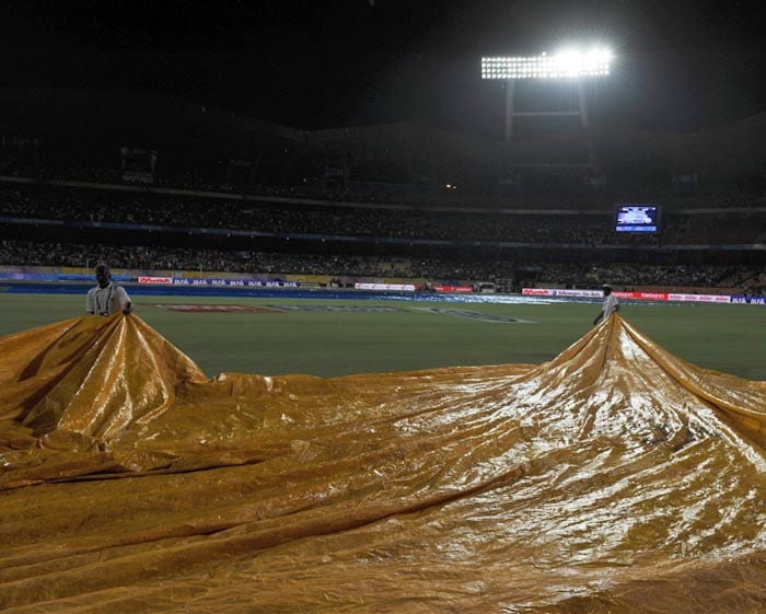 Raina's knock was cut short when rain began pouring down and the match had to be halted for a considerable period of time.