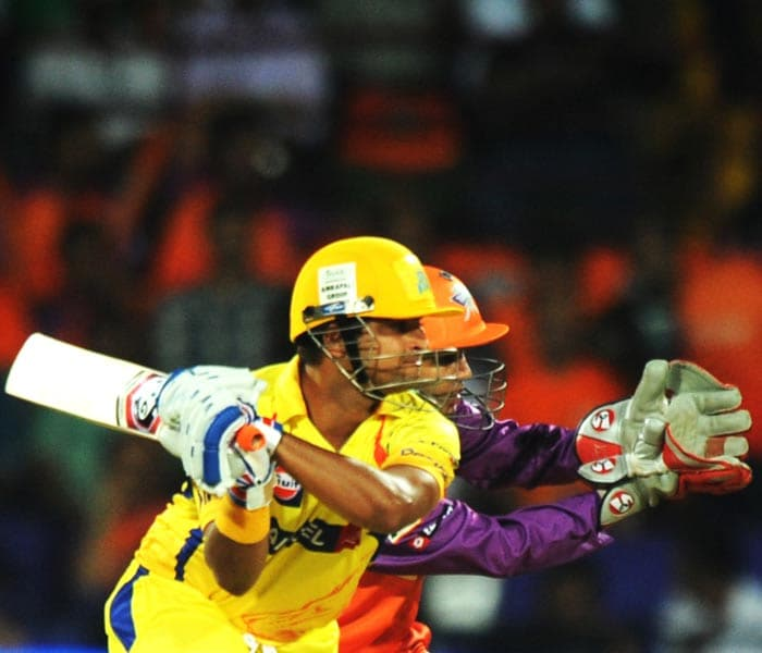 Once the match began again though, with 17-overs a side, Raina shifted gears and slammed a commendable 50. He however was run out soon after.