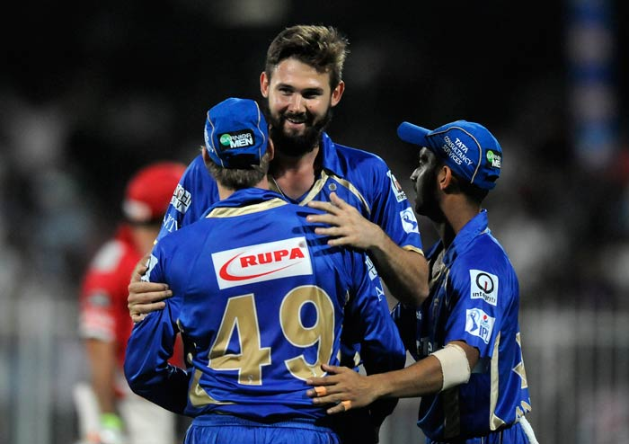 Chasing 192 for a win, Kings XI Punjab lost Virender Sehwag and Wriddhiman Saha early and were reduced 10 for two.