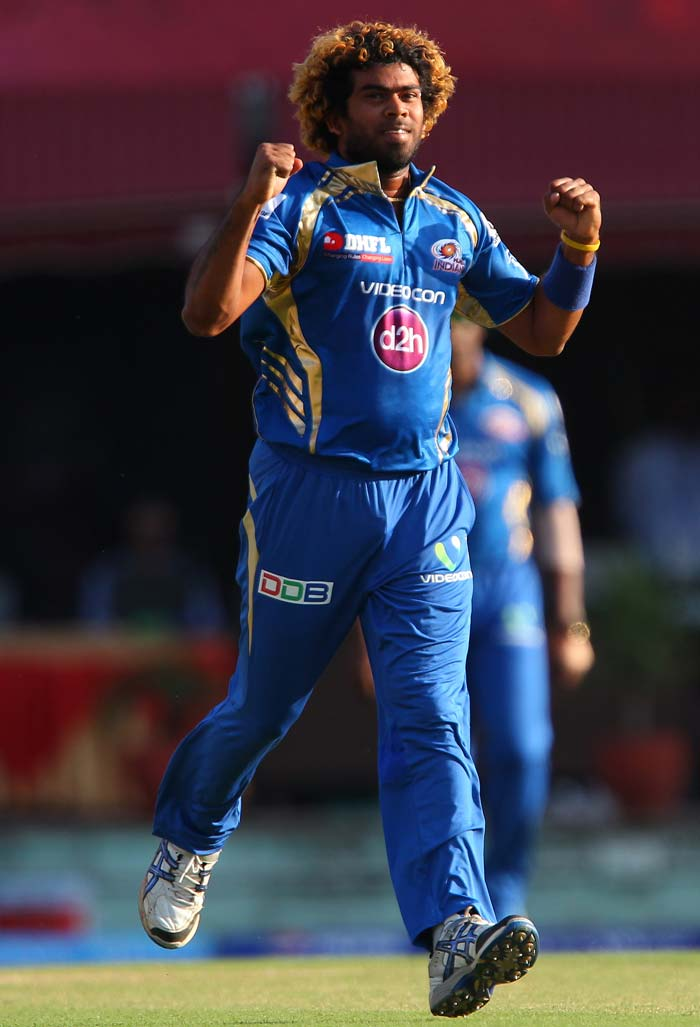 Malinga completed 100 wickets in the IPL but it was not enough to prevent Punjab from reaching 183/8. (BCCI Image)