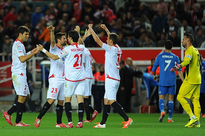 Sevilla hit back hard though with two goals that proved to be too much to handle for Real.