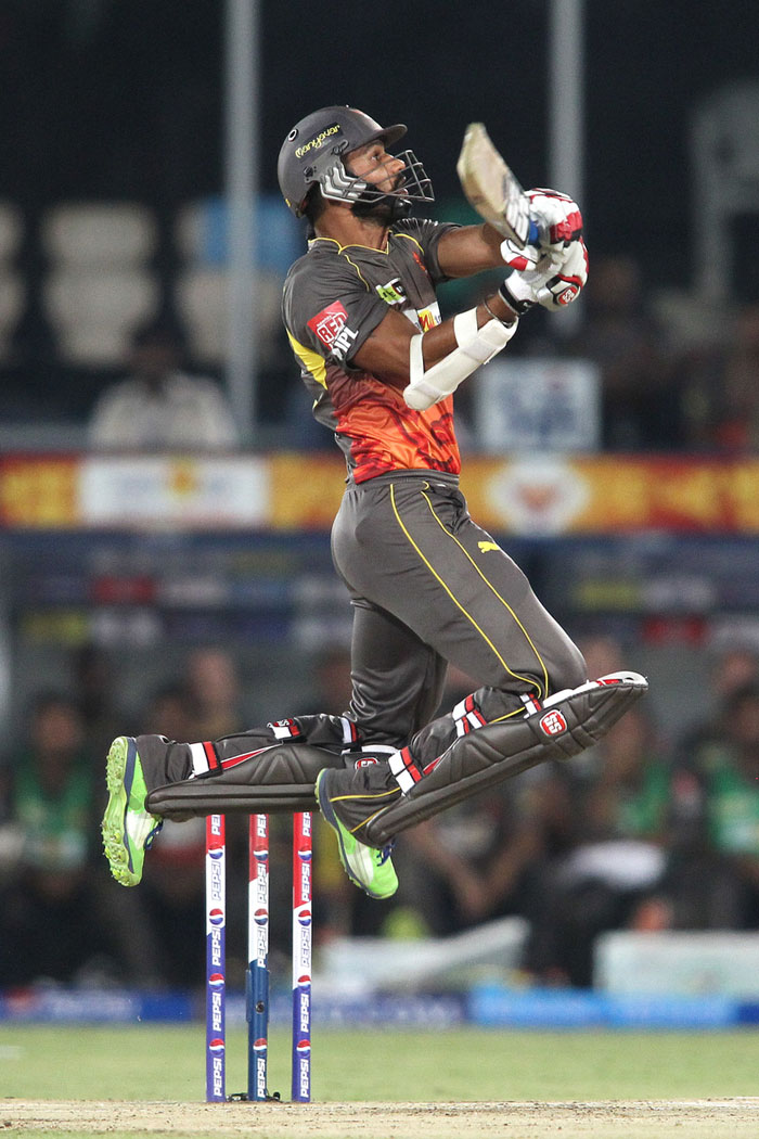 Shikhar Dhawan was absolutely on top of his game, quite literally (as seen in the image). (BCCI Image)