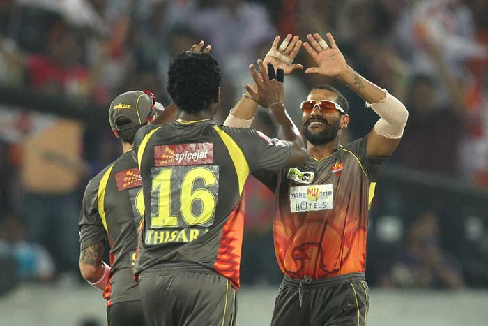 Brilliant all-round bowling performance by Sunrisers Hyderabad kept Kolkata Knight Riders in check as the visiting side managed just 130/7 in the last league game of the Indian Premier League 2013. (BCCI Image)