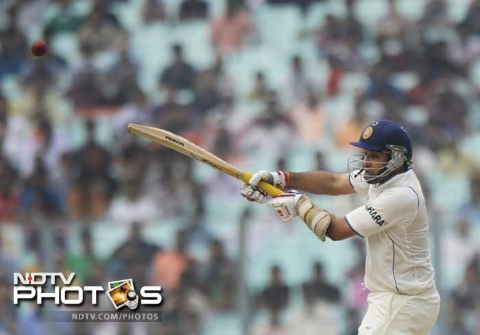 Laxman at the other end continued to play in his usual style mixed with some uncharacteristic hits as well to spice things up.