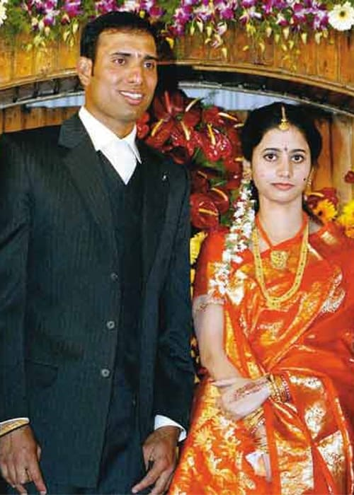 He married G. R. Sailaja from Guntur, who is a post-graduate in computer applications, on February 16, 2004.<br><br> His wedding was attended by the who's who of India's cricketing fraternity.