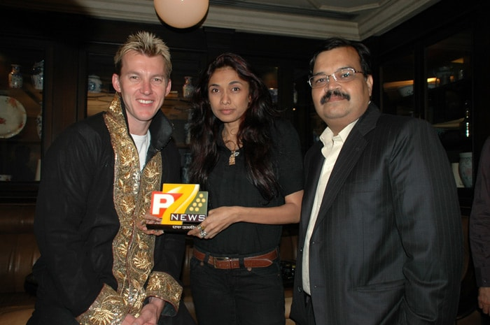 In October 2009, Brett Lee walked the ramp for Sanjana Jon in the Mumbai Fashion Week promoting 'Save the Girl Child' campaign.