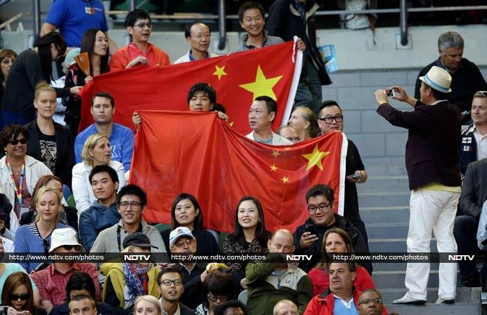 The Rod Laver Arena at the Melbourne Park was a full house with a barrage of spectators from China, in support of Li Na.