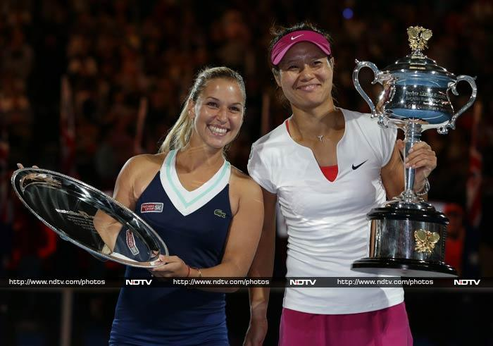 Fourth seed Li Na beat Dominika Cibulkova 7-6 6-3 in the final of the 2014 Australian Open to win her second major and become the first Asian to claim the Grand Slam of the Asia-Pacific. (All images from AFP and AP)