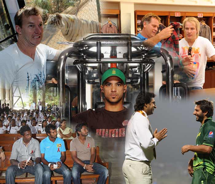 We know what they did on the field. A cricketer however, is not just about his batting, bowling or those endless commercials when not playing. A look at what some of them have been up to, off the field, in this edition of the World Cup.